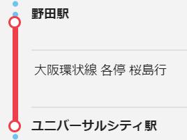 野田からUSJ